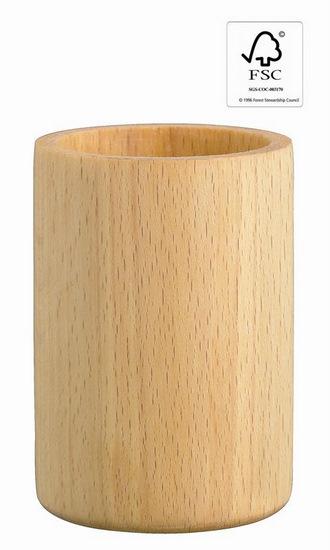 pot a crayon en hetre bois fsc objets publicitaires. Black Bedroom Furniture Sets. Home Design Ideas